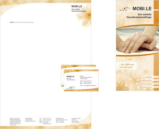 Corporate Design - Faltblatt MOBI.LE