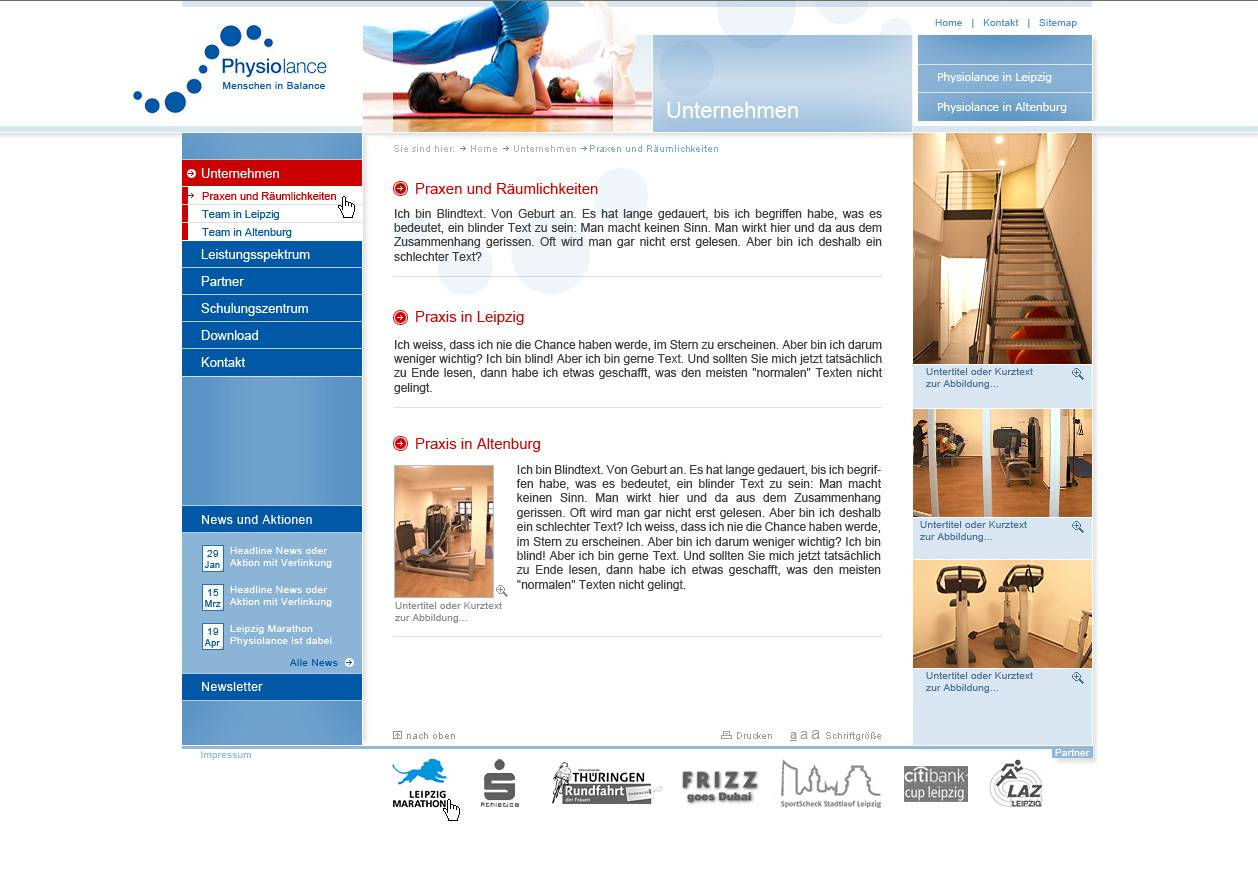 Webdesign - Physiolance